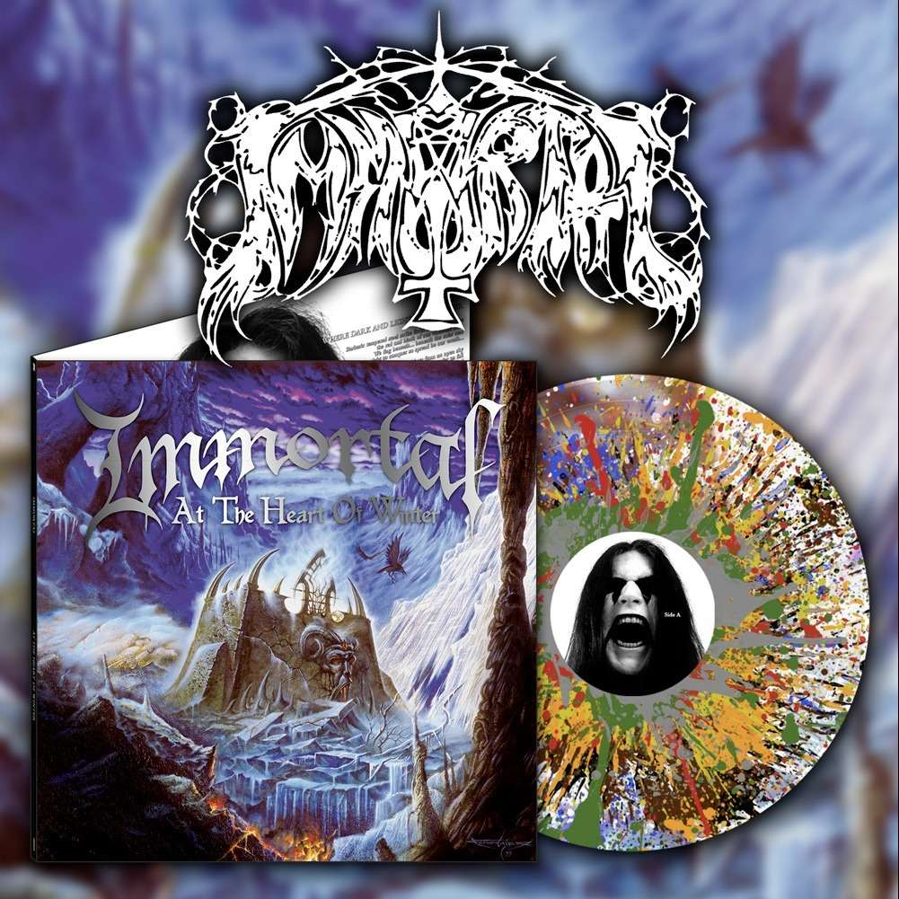 IMMORTAL At The Heart Of Winter. Clear Splatter