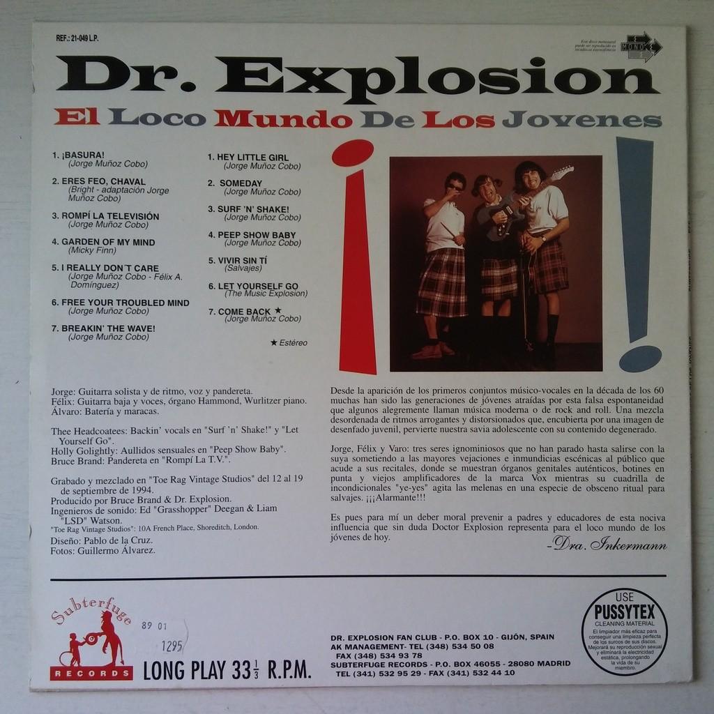 Doctor Explosion El Loco Mundo De Los Jovenes