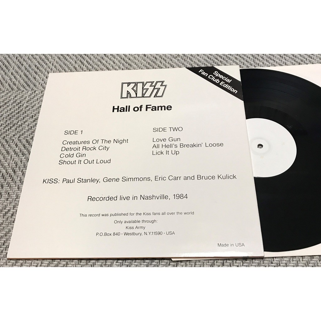 Kiss Hall Of Fame