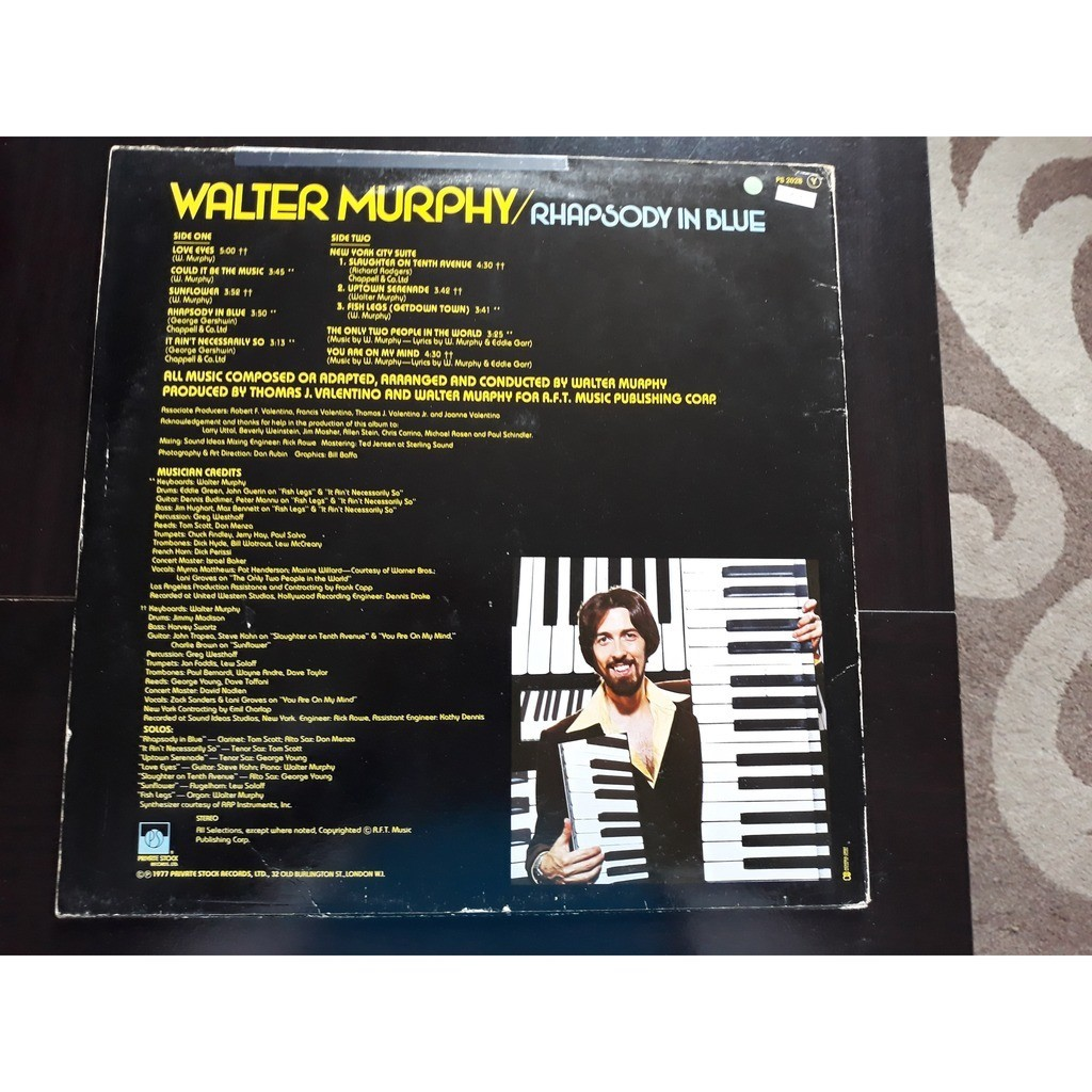 Walter Murphy - Rhapsody In Blue (LP, Album) Walter Murphy - Rhapsody In Blue (LP, Album)