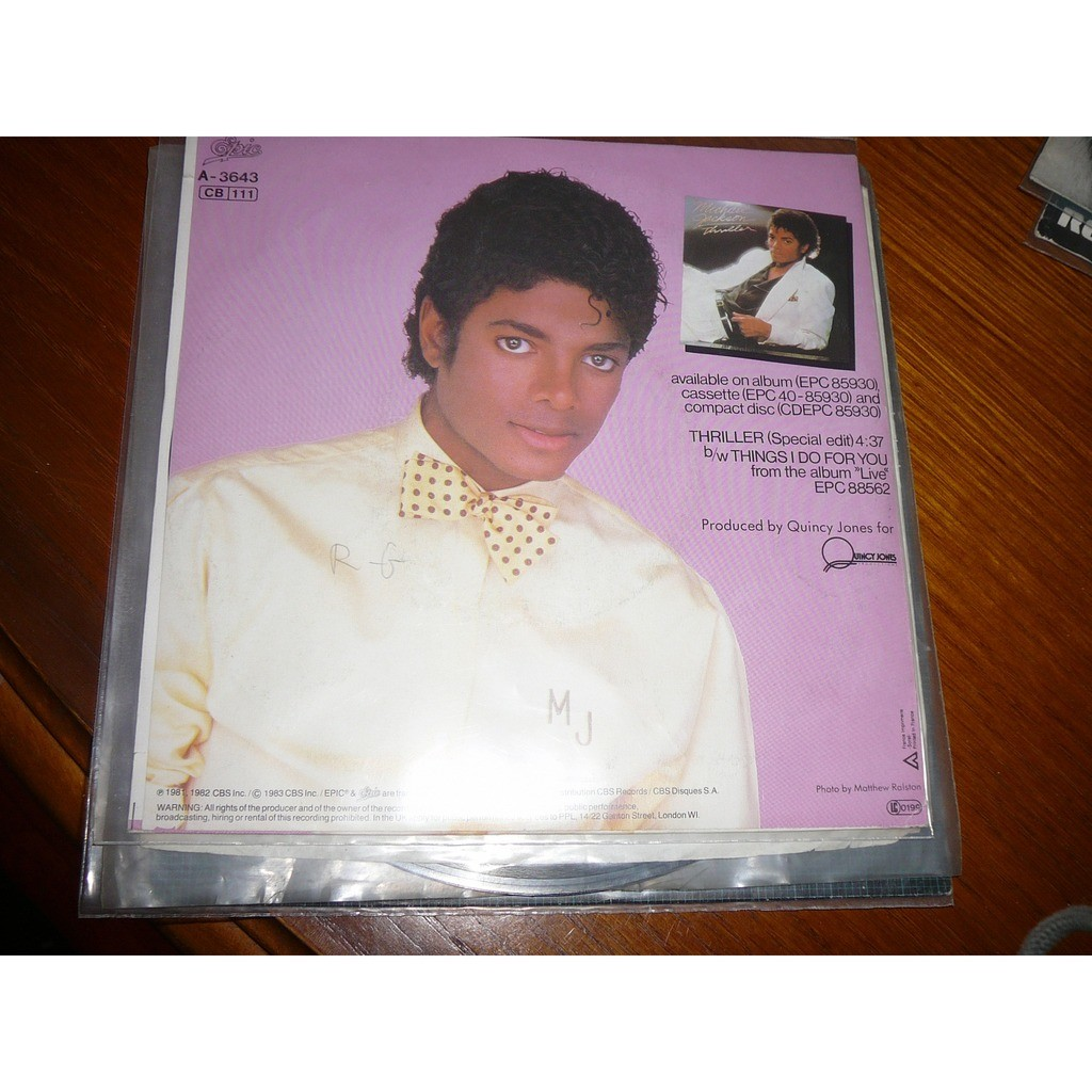 MICHAEL JACKSON THRILLER (SPECIAL EDIT) / THINGS I DO FOR YOU