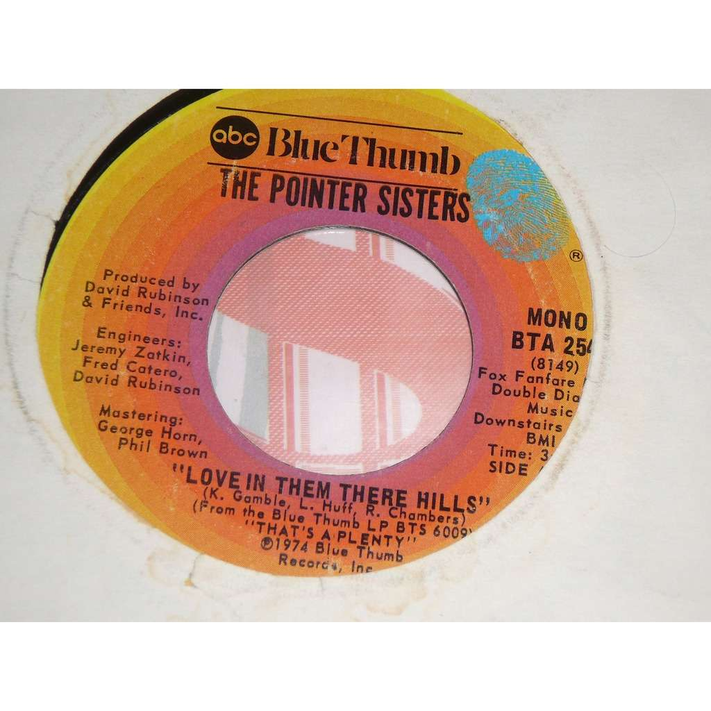 Pointer Sisters Love In Them There Hills / Fairytale