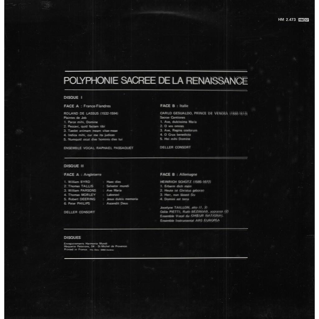 Deller Consort Polyphonie Sacrée de la Renaissance