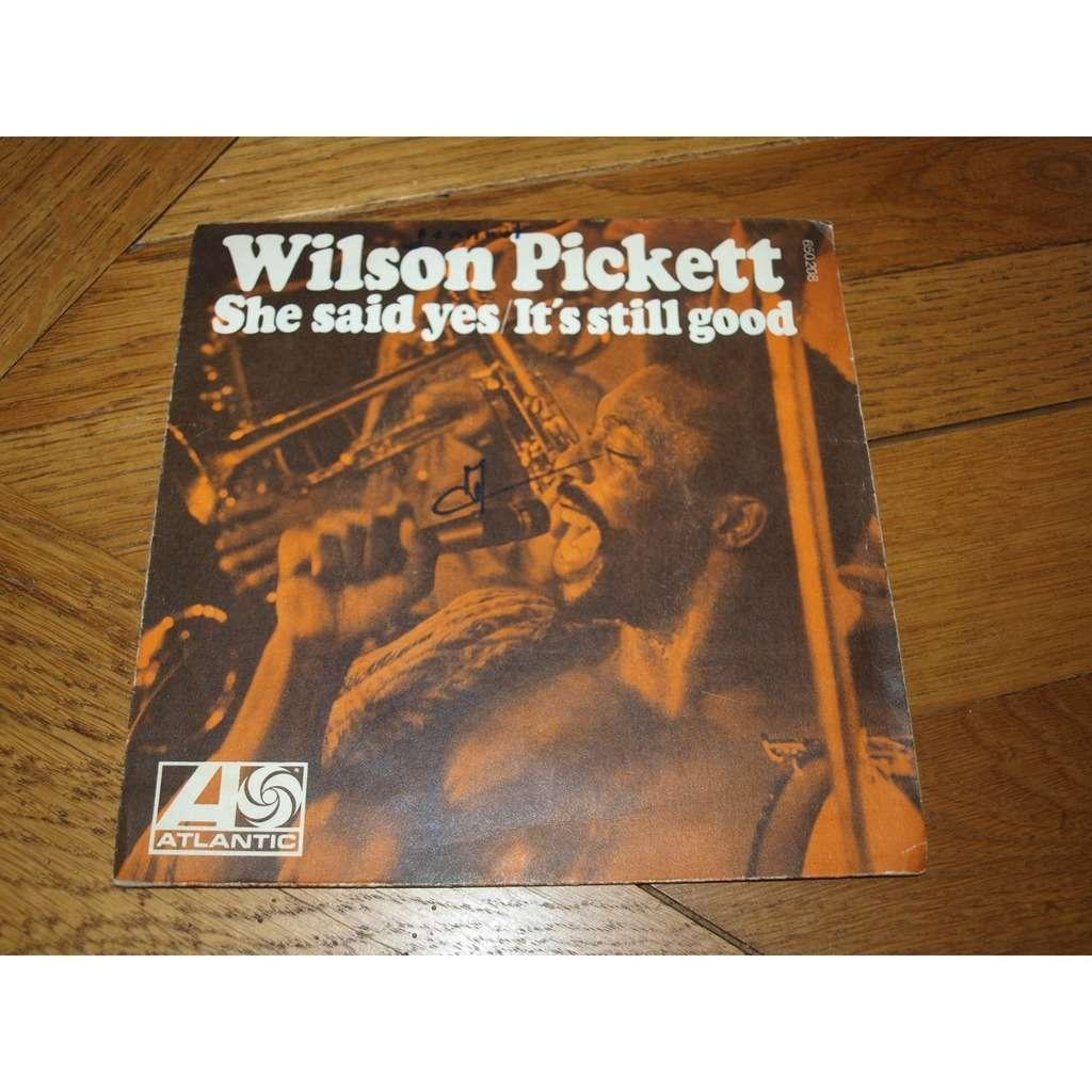 wilson pickett she said yes