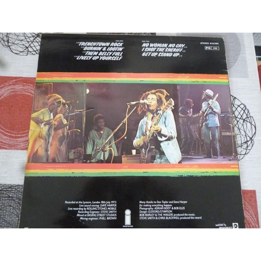 Bob Marley & The Wailers - Live! (LP, Album) Bob Marley & The Wailers - Live! (LP, Album)