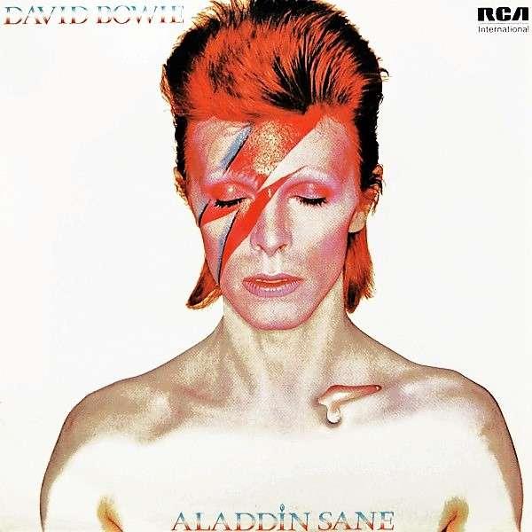 David Bowie Aladdin Sane (UK 1981 re 10-trk LP on green RCA International lbl full different ps)