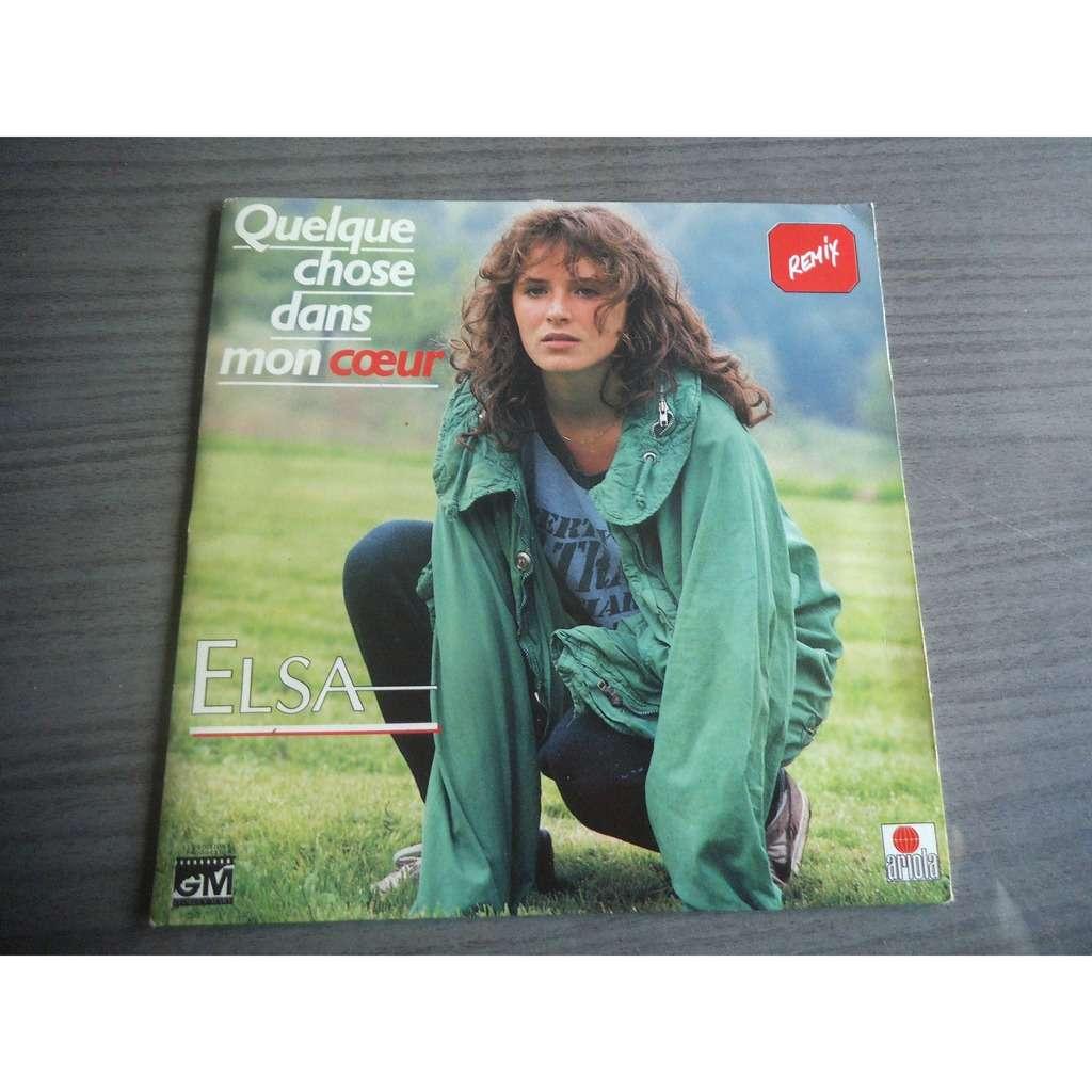ELSA QUELQUE CHOSE DANS MON COEUR / QUELQUE CHOSE DANS MON COEUR (INSTRUMENTALE)