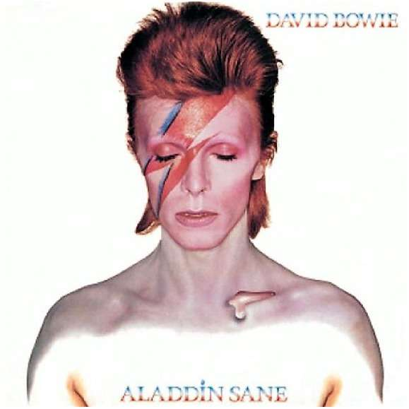 David Bowie Aladdin Sane (UK 1973 original 10-trk LP orange rca lbl full single ps & insert!!)