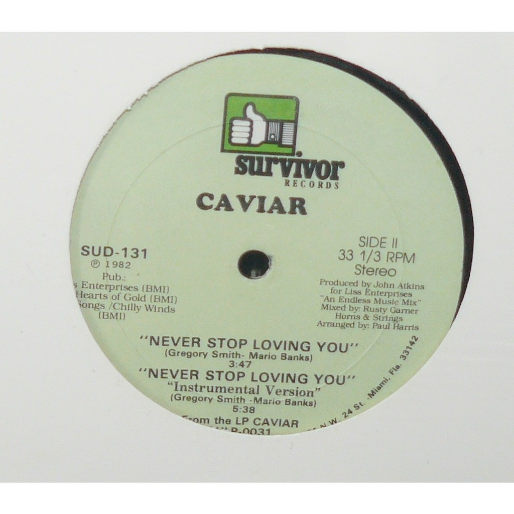 caviar never stop loving you