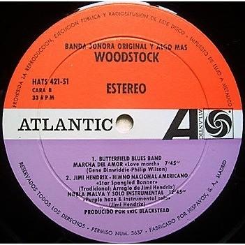 Neil Young / CSNY Woodstock (Spanish 1970 original 3LP set unique 'Banda Sonora Original Y Algo Mas' box set ps)