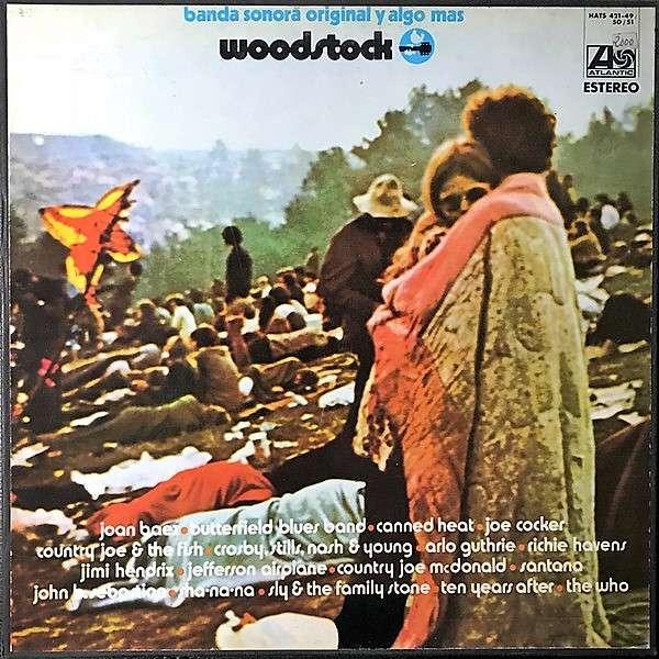 Jimi Hendrix Woodstock (Spanish 1970 original 3LP set unique 'Banda Sonora Original Y Algo Mas' box set ps)