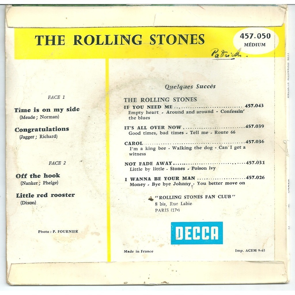 The Rolling Stones Time is on my side - 1965-09 - blue BIEM label