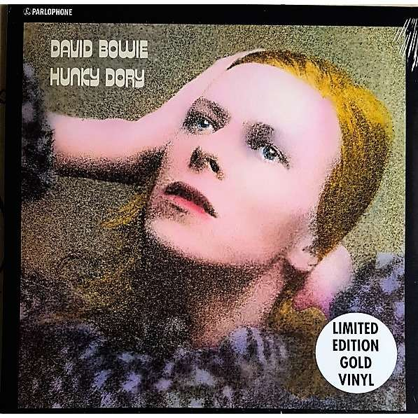 David Bowie Hunky Dory (UK 2017 Ltd 6000 copies 11-trk GOLD vinyl LP stickered ps+inner slv!)
