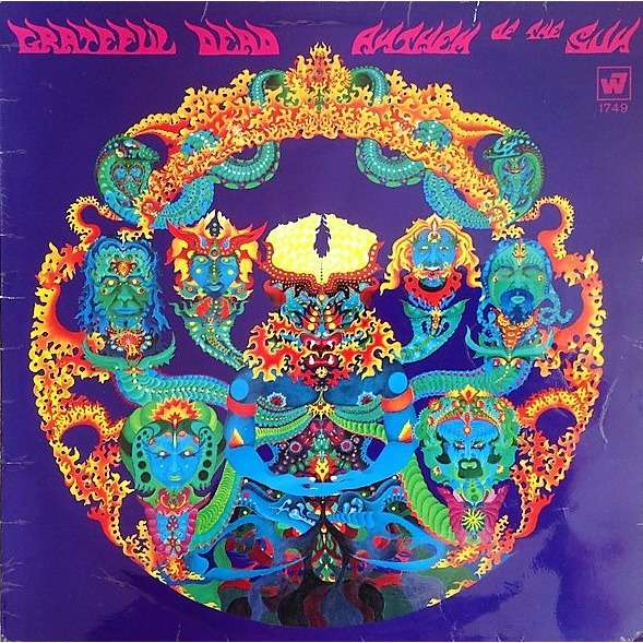 The Grateful Dead Anthem Of The Sun (UK 1968 original 'stereo' 5-trk LP on red WB lbl front laminated flipback ps)