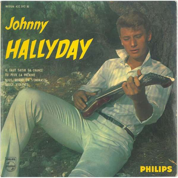 Johnny HALLYDAY Nous quand on s'embrasse + 3 (original French press - Fleepback & Tag edge cover - 1962)