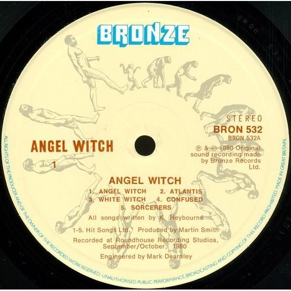 Angel Witch Angel Witch (UK 1980 original 10-trk LP on Bronze lbl full ps)
