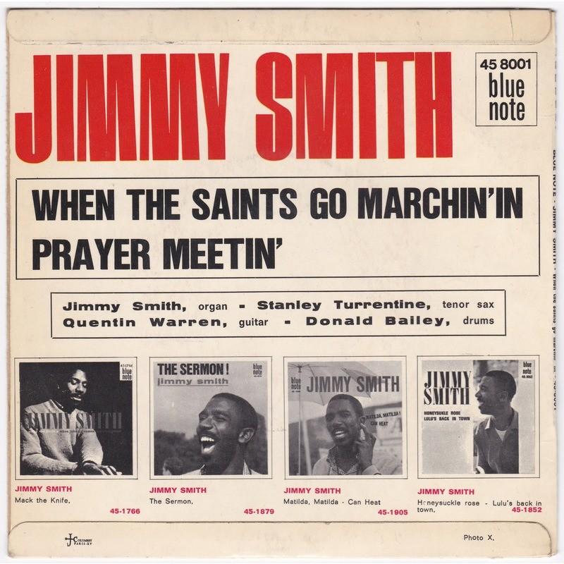 JIMMY SMITH when the saints go marchin'in - prayer meetin'