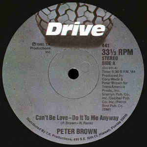 peter brown can't be love