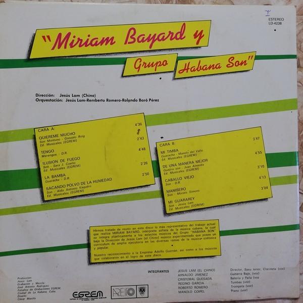 Miriam Bayard y el Grupo Habana Son Miriam Bayard y el Grupo Habana Son