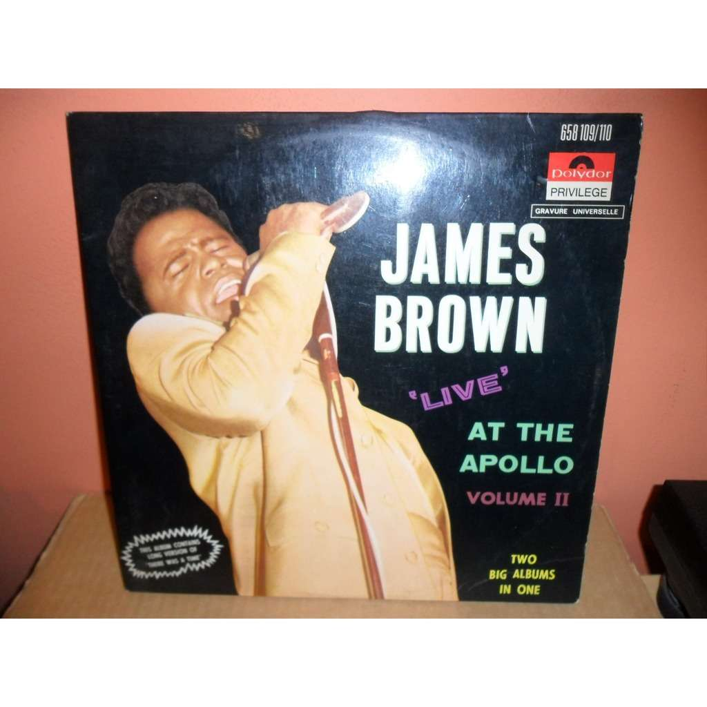 JAMES BROWN Live At The Apollo - Volume Ii