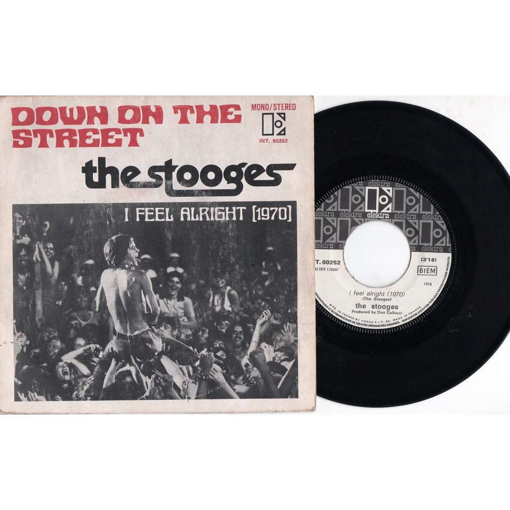 Iggy Pop / The Stooges Down On The Streets (French 1970 original 2-trk 7single unique great ps)