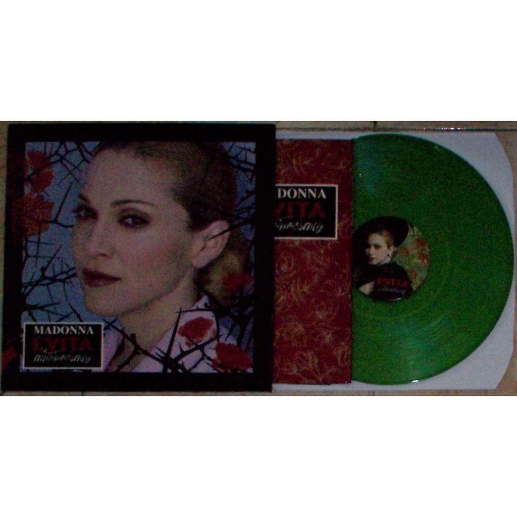 Madonna Evita Anniversary (Ltd 200 no'd copies 6-trk LP GREEN wax on POTG lbl gf ps+insert!)