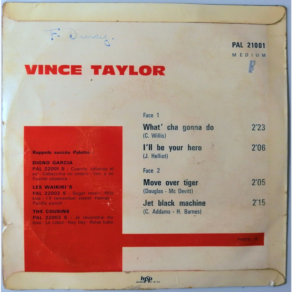 Vince Taylor What' Cha Gonna Do +3