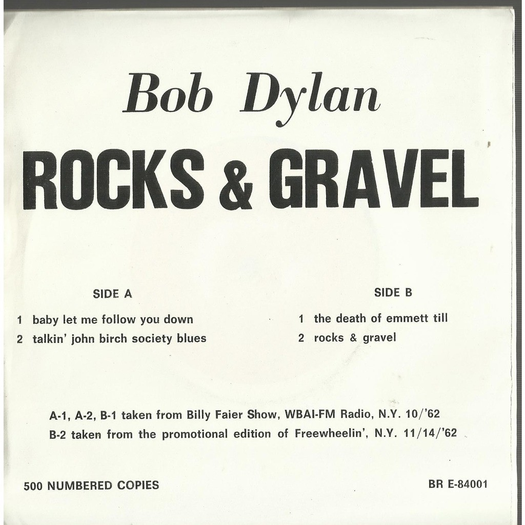 bob dylan rocks and gravel