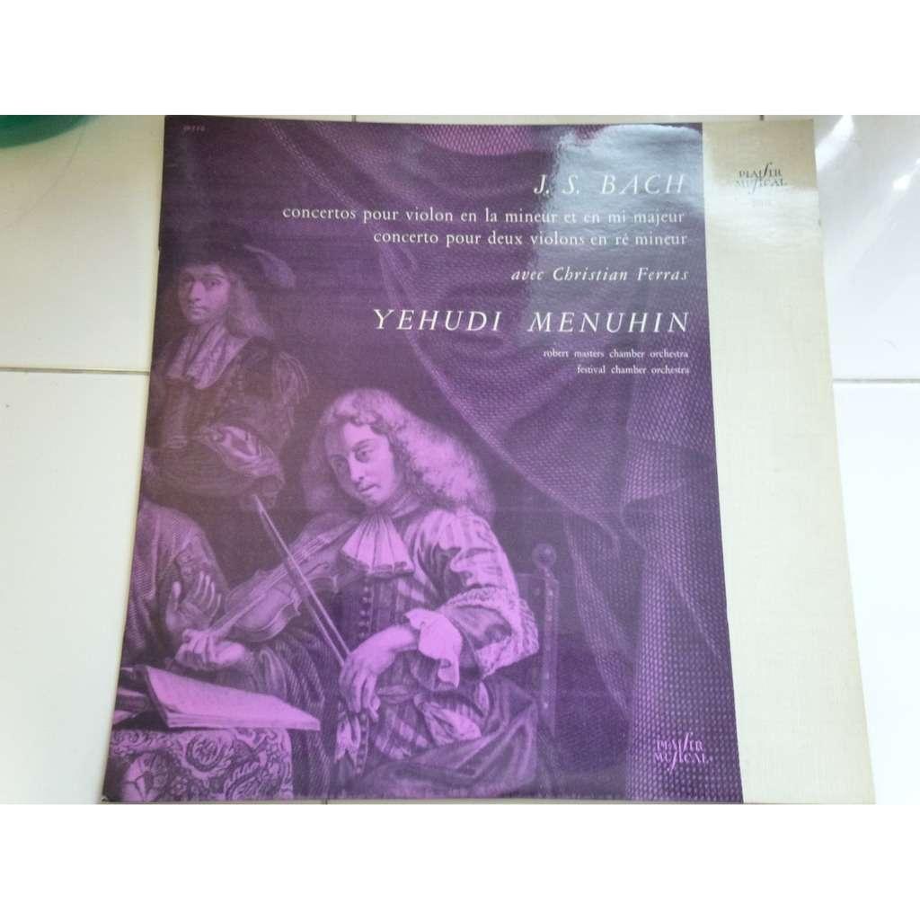 MENUHIN Yehudi & Robert MASTERS CHAMBER ORCHESTRA Bach : Les deux concertos pour violon / Le concerto pour deux violons - ( near mint condition )