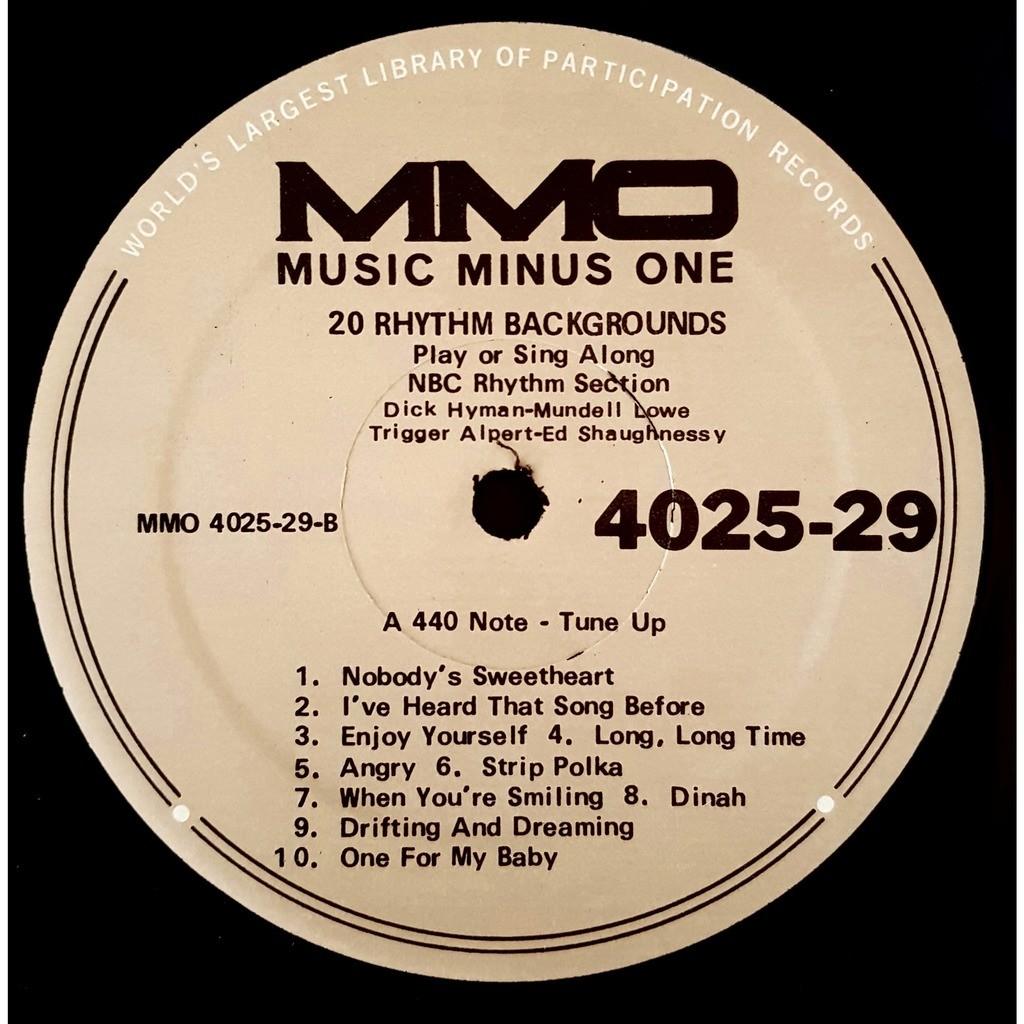 Music Minus One 20 Rhythm Backgrounds