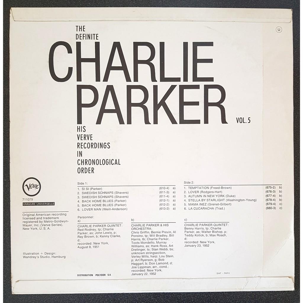 charlie parker the definite charlie parker volume 5