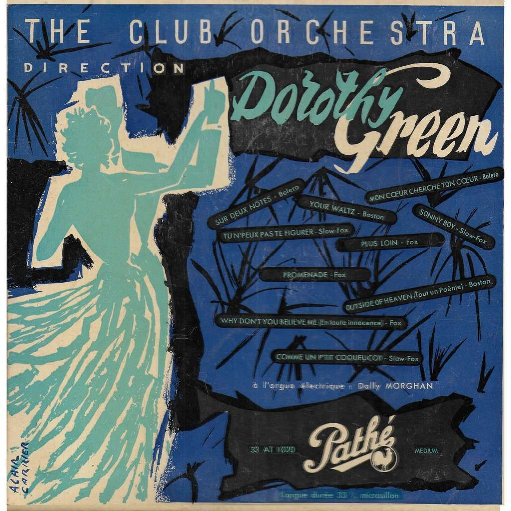 Dorothy GREEN The Club Orchestra direction Dorothy Green