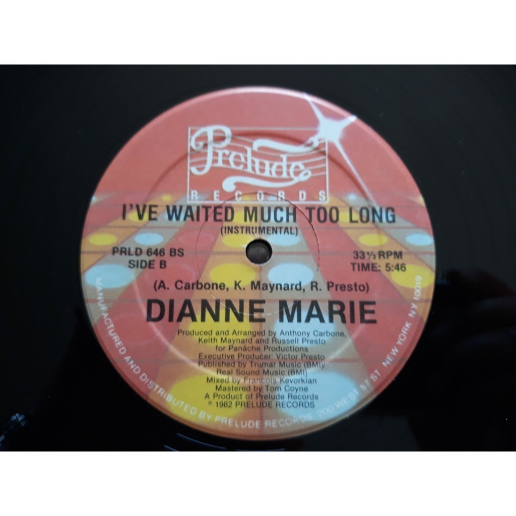 Dianne Marie - I've Waited Much Too Long (12) Dianne Marie - I've Waited Much Too Long (12)