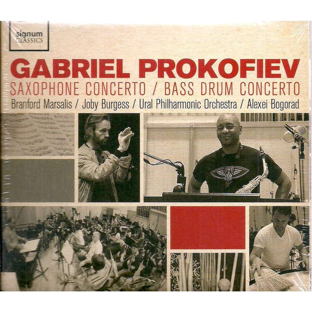gabriel prokofiev / brandford marsalis Saxophone concerto/Bass drum concerto