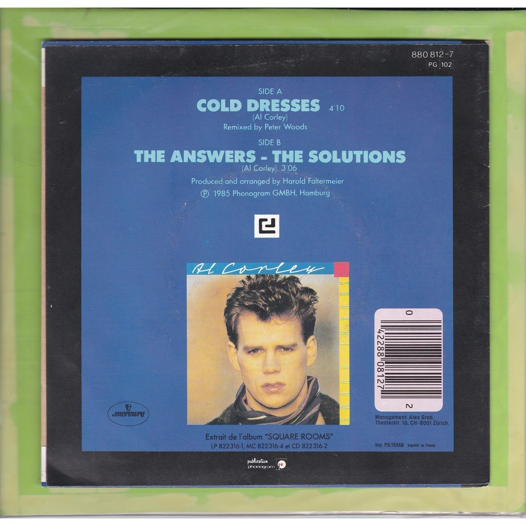 AL CORLEY COLD DRESSES & THE ANSWERS-THE SOLUTIONS