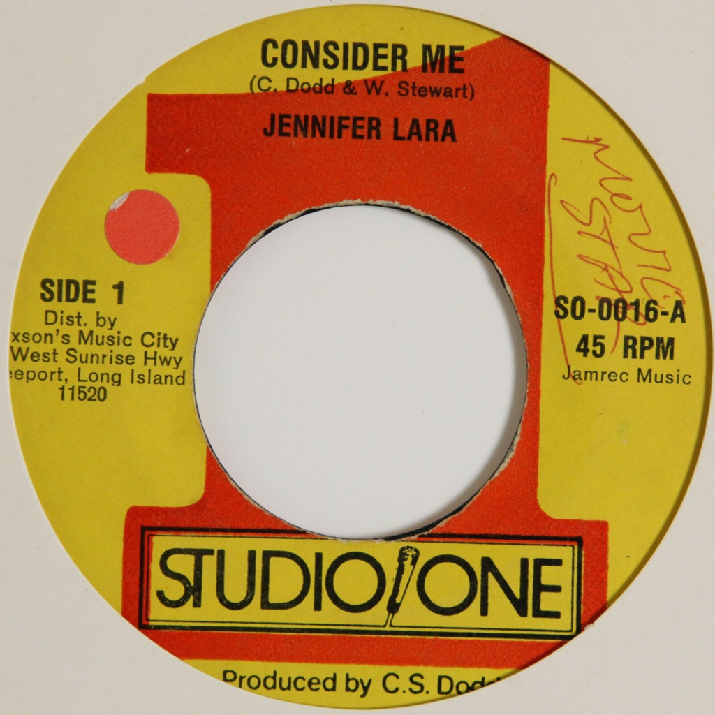 Jennifer Lara Consider Me / Studio One