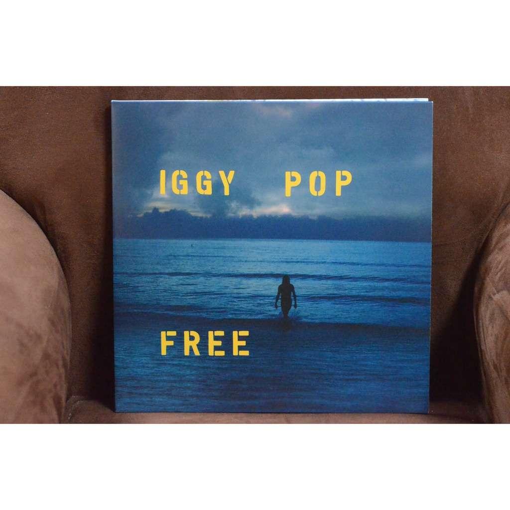 Iggy Pop Free .Ocean Blue Deluxe Vinyl Edition .