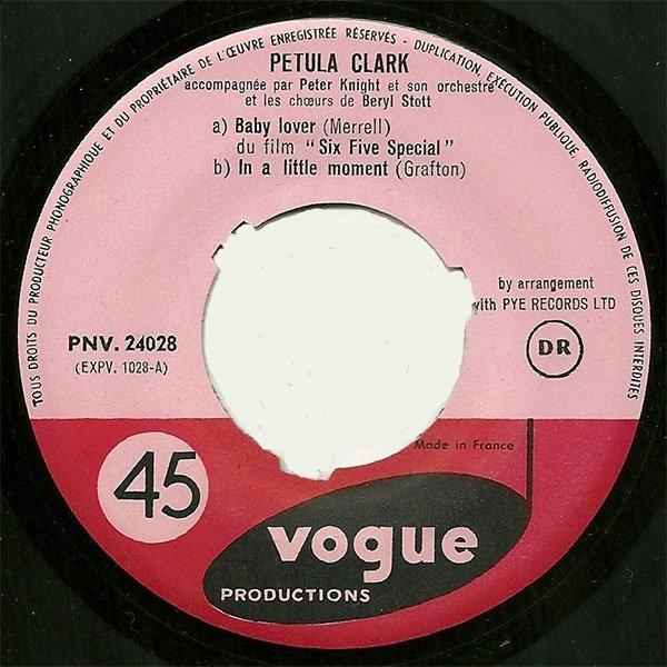 Petula CLARK Baby Lover - Vol. 8 (rare original French press - Sings in English - 1958)