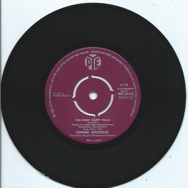 Edmund HOCKRIDGE The Most Happy Fella (original UK press - 1960 - Iced fleepback cover)