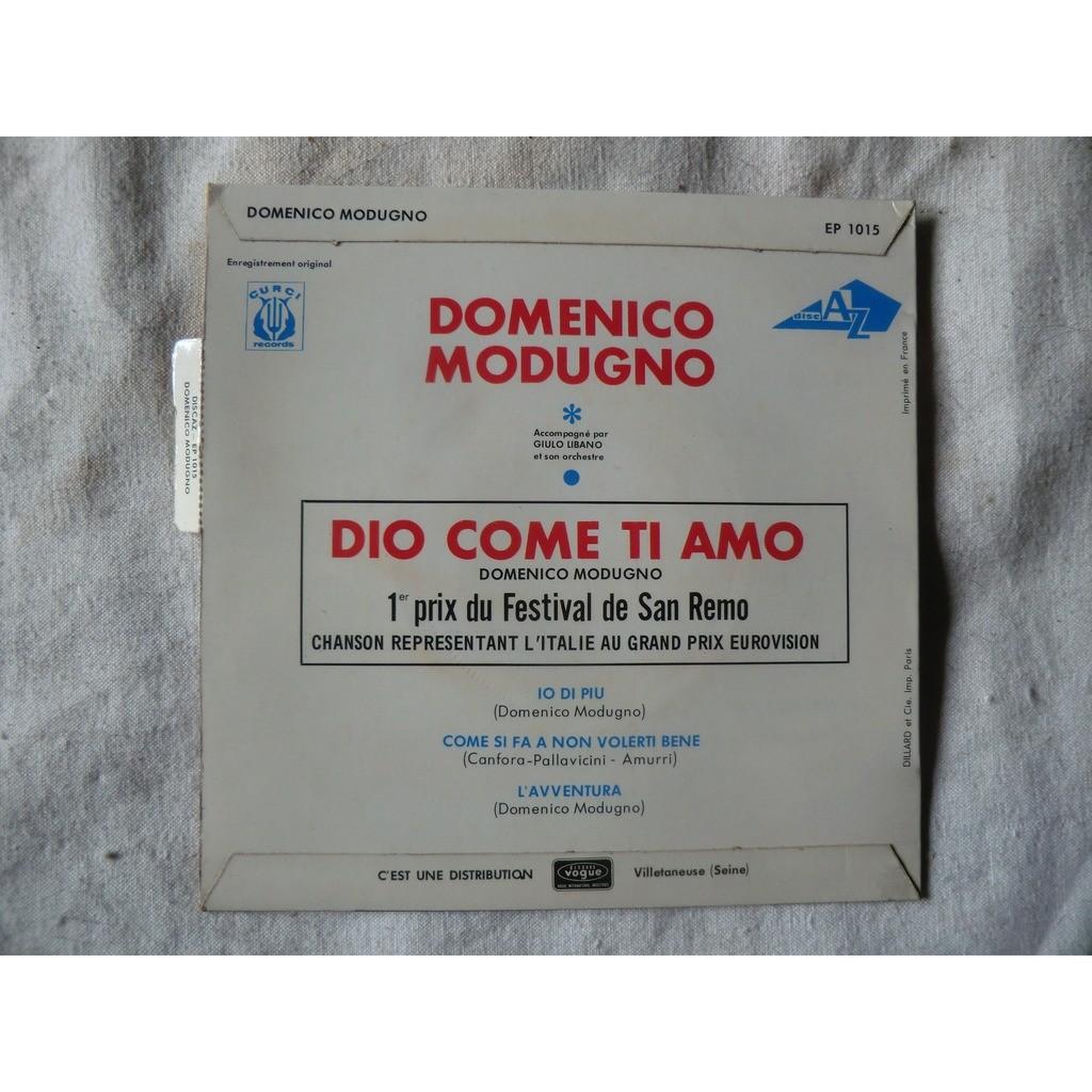 Domenico MODUGNO Dio come ti amo + 3 (original French press - tag & fleepback cover - 1966)