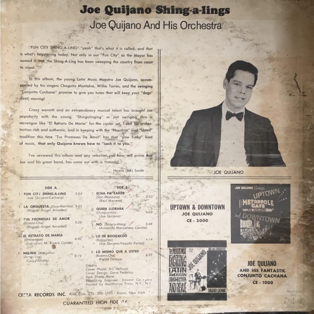 Joe Quijano and his Orchestra Joe Quijano shing-a-lings