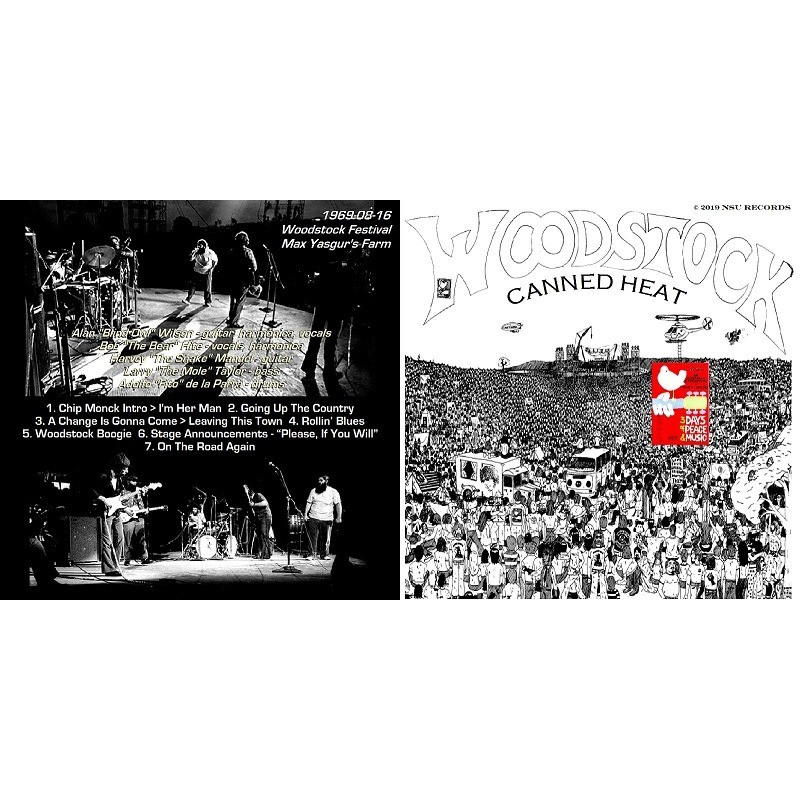 CANNED HEAT Live at Woodstock Festival 1969 August 16th LIMITED ED CD