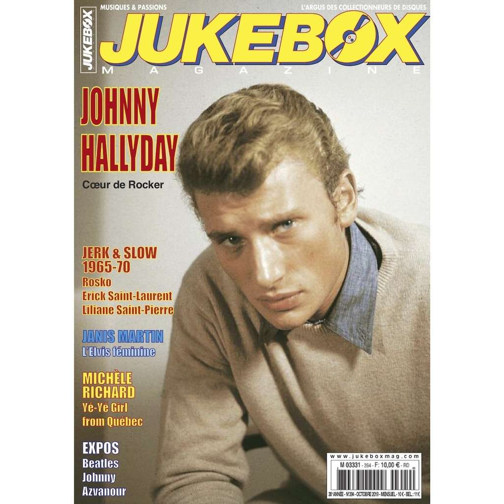 N°394 (OCTOBRE 2019) JOHNNY HALLYDAY MAGAZINE - JUKEBOXMAG.COM