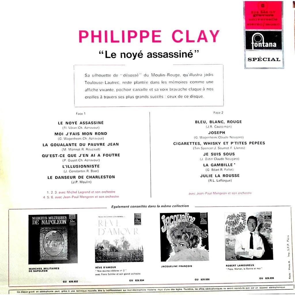 Clay Philippe Le noyé assassiné