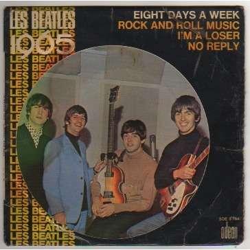 BEATLES EIGHT DAYS A WEEK + 3 - LANGUETTE - LES BEATLES 1965 - (POCHETTE ETAT MOYEN)
