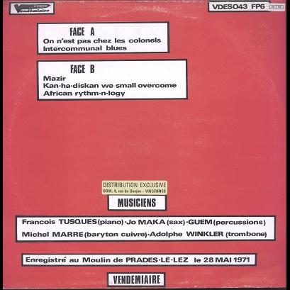 François Tusques L'Intercommunal Free Dance Music Orchestra vol.1