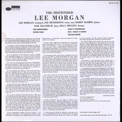 Lee Morgan the sidewinder