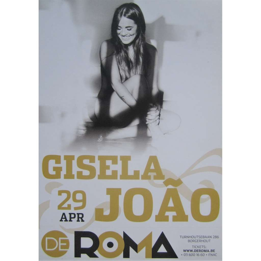 gisela joao card / flyer for concert at the roma, antwerp