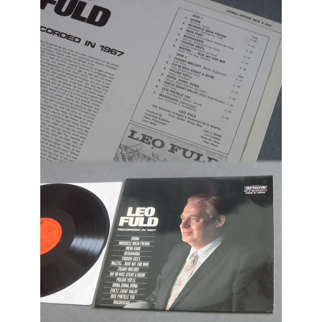 Leo Fuld Recorded In 1967 - Yiddish Songs