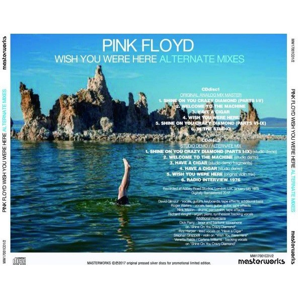 pink floyd Wish You Were Here Alternate Mixes 2CD